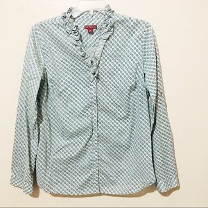 Merona Printed Collared Button Down Shirt
